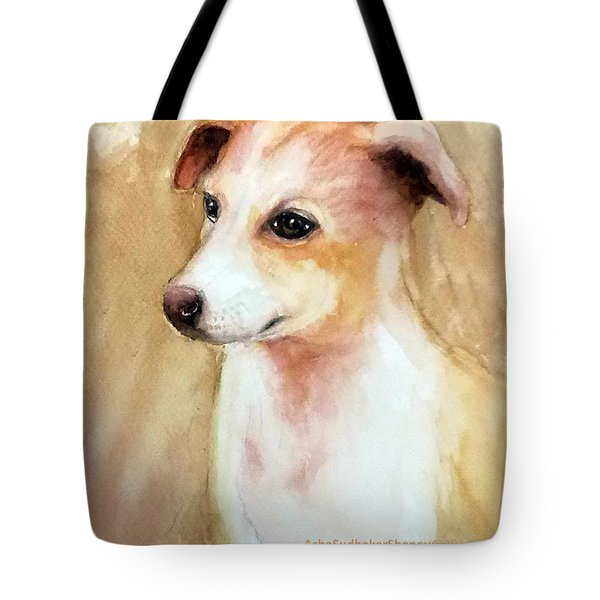 Chutki The Pet Dog Tote Bag