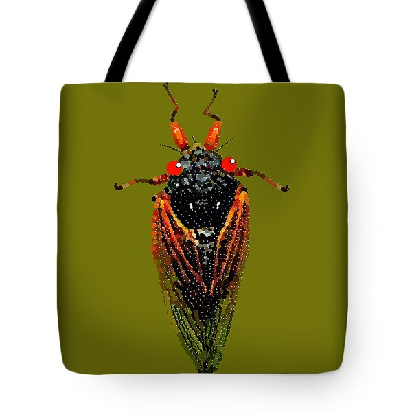 Cicada In Green Tote Bag