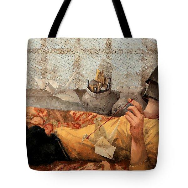 Cicogna Da Passeggio Tote Bag