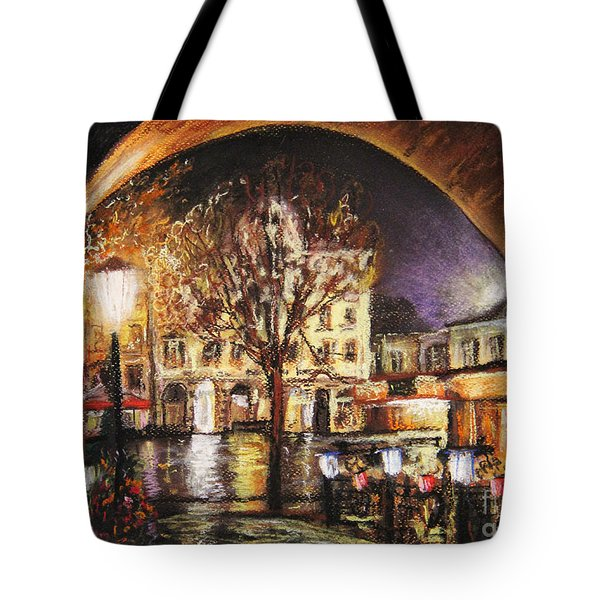 Cieszyn At Night Tote Bag