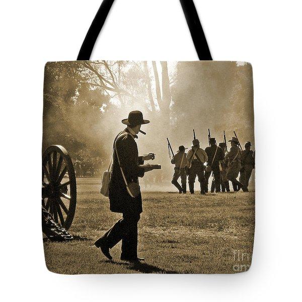 Cigar Man - U.s. Civil War Reenact Tote Bag by Cheryl Del Toro