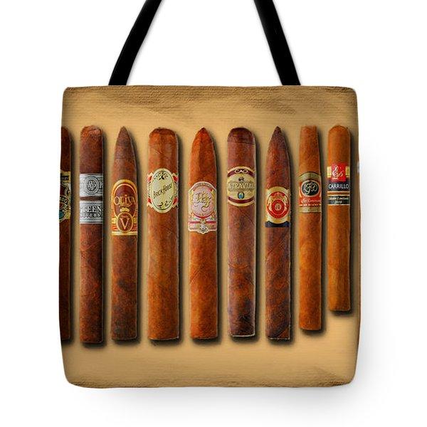 Cigar Sampler Painting Tote Bag