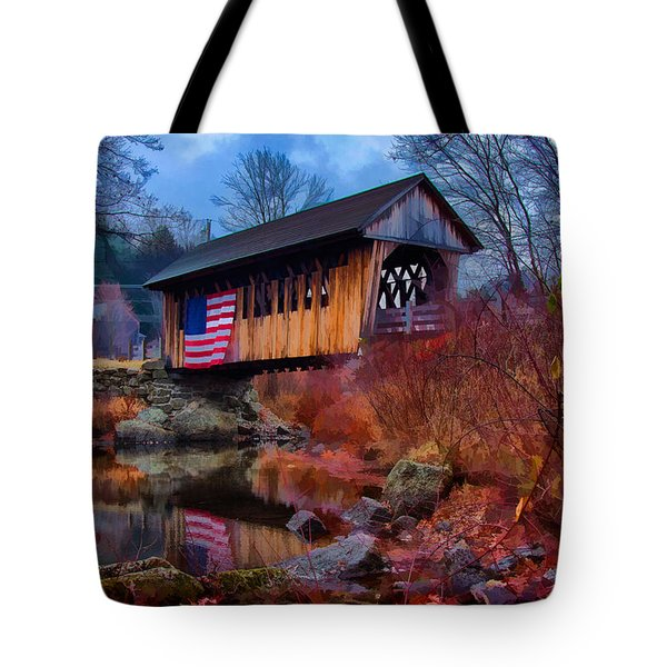 Cilleyville Covered Bridge Tote Bag