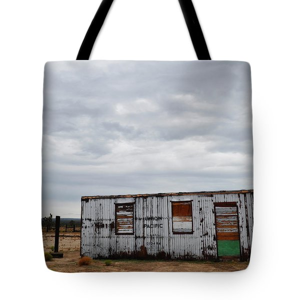 Cima Union Pacific Railroad Station Tote Bag by Kyle Hanson