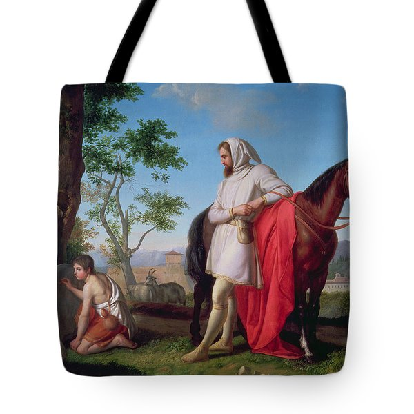 Cimabue Observing The Young Giotto Drawing A Goat On A Rock Tote Bag