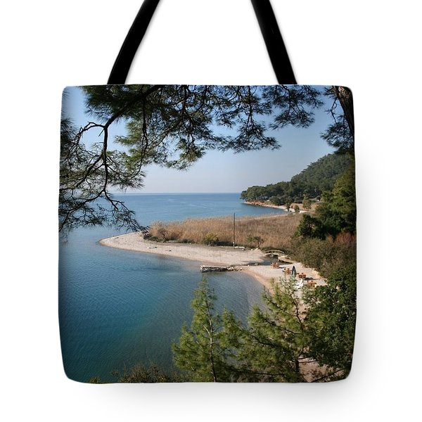 Tote Bag featuring the photograph Cinar Beach by Tracey Harrington-Simpson