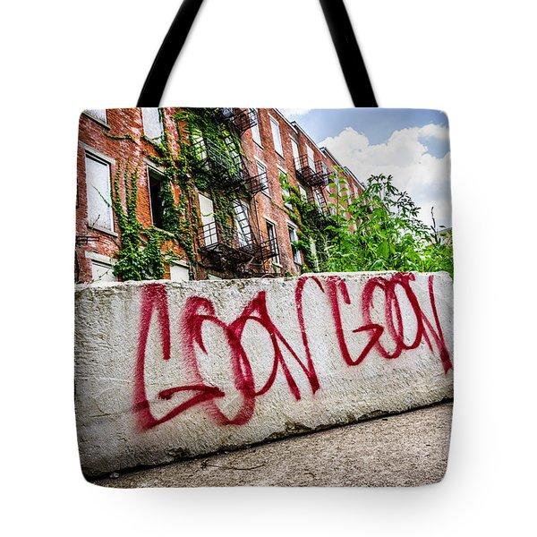 Cincinnati Glencoe Hole Graffiti Picture Tote Bag by Paul Velgos