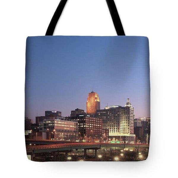 Cincinnati In Morning Twilight Tote Bag