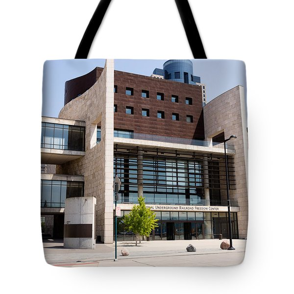 Cincinnati National Underground Railroad Freedom Center Tote Bag by Paul Velgos