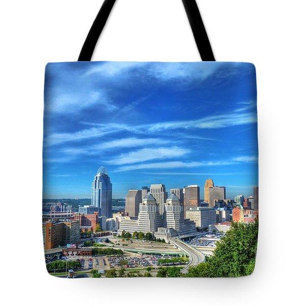Cincinnati Skyline 2 Tote Bag