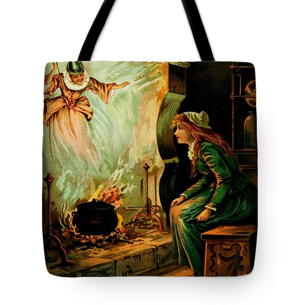 Cinderella And The Fairy Godmother Tote Bag by Mother Goose