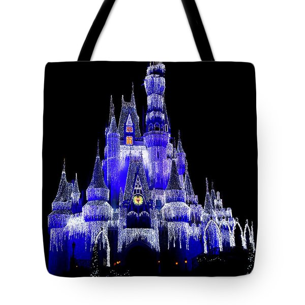 Tote Bag featuring the photograph Cinderella's Castle by Laurie Perry