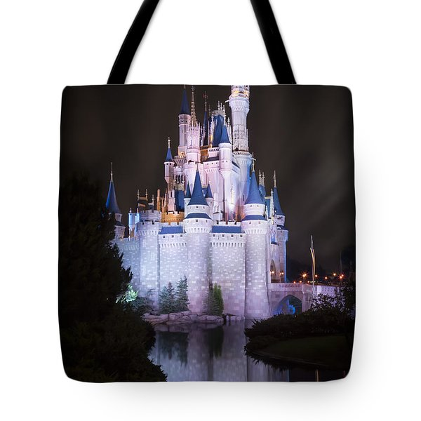 Cinderella's Castle Reflection Tote Bag