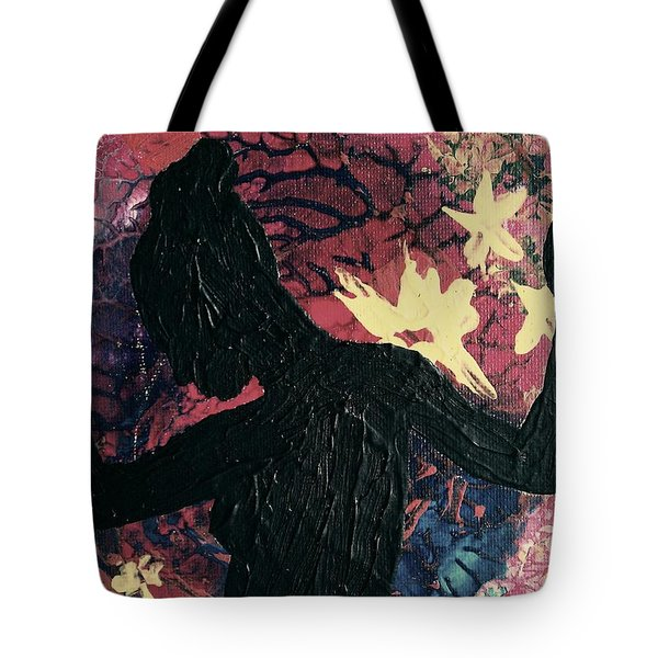 Tote Bag featuring the painting Cinnamon by Jacqueline McReynolds
