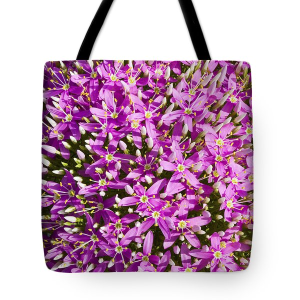 Centrifugal Mountain Pink Flowers Tote Bag