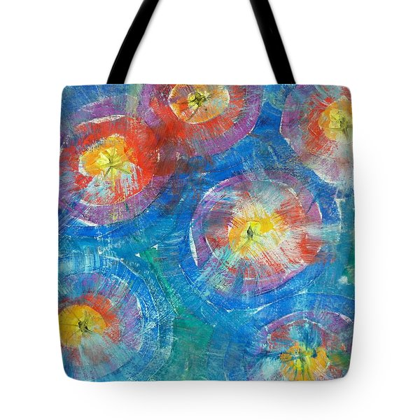 Circle Burst Tote Bag
