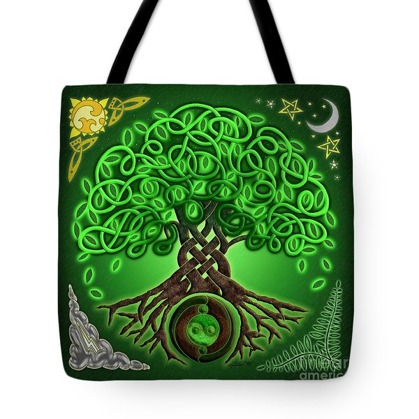 Circle Celtic Tree Of Life Tote Bag