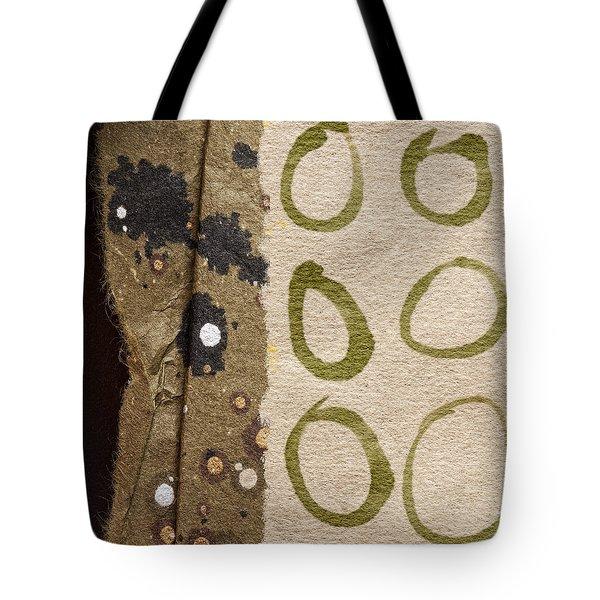 Circle Collage Tote Bag by Carol Leigh