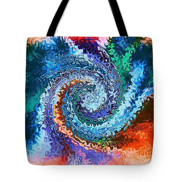 Circle Of Colors Abstract Art Tote Bag by Annie Zeno