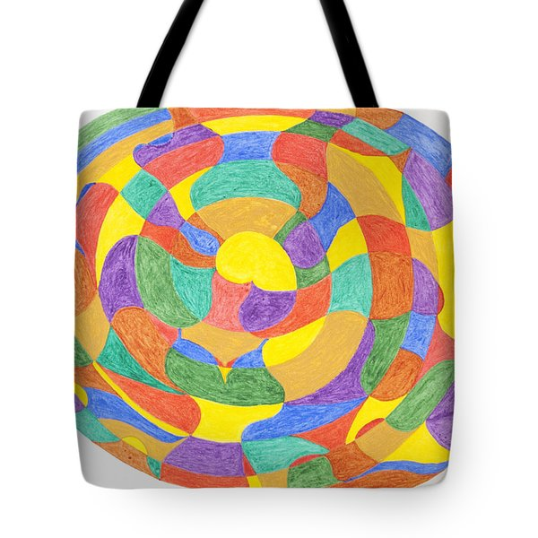 Tote Bag featuring the painting Life Cycles by Stormm Bradshaw