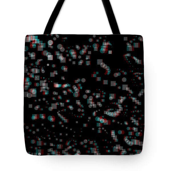 Circles And Squares - Use Red-cyan 3d Glasses Tote Bag by Brian Wallace