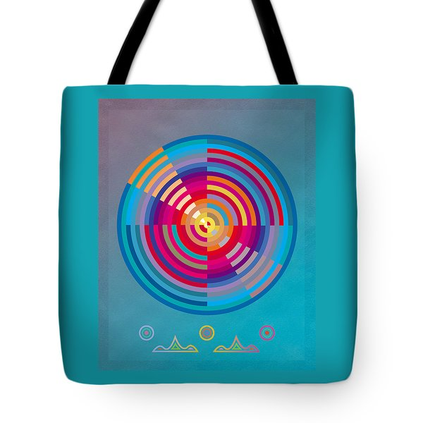 Tote Bag featuring the painting Circles by David Klaboe