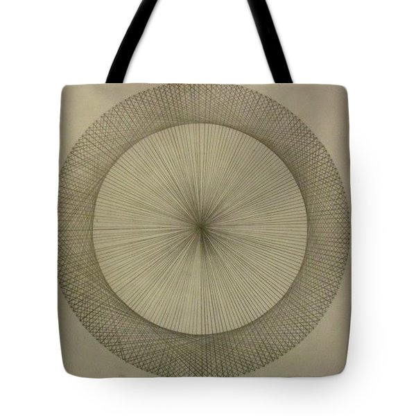 Tote Bag featuring the drawing Circles Don't Exist Two Degree Frequency by Jason Padgett