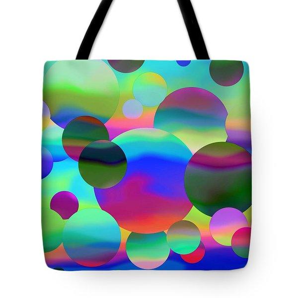 Tote Bag featuring the digital art Circles by Elizabeth Budd