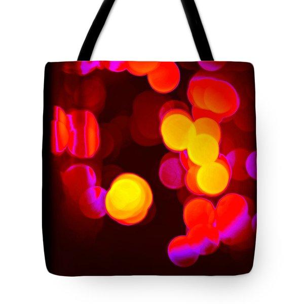 Circles In Infrared Tote Bag