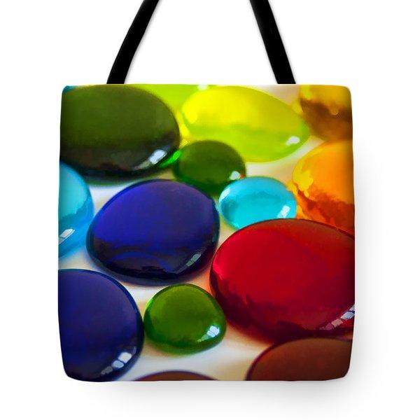 Circles Of Color Tote Bag