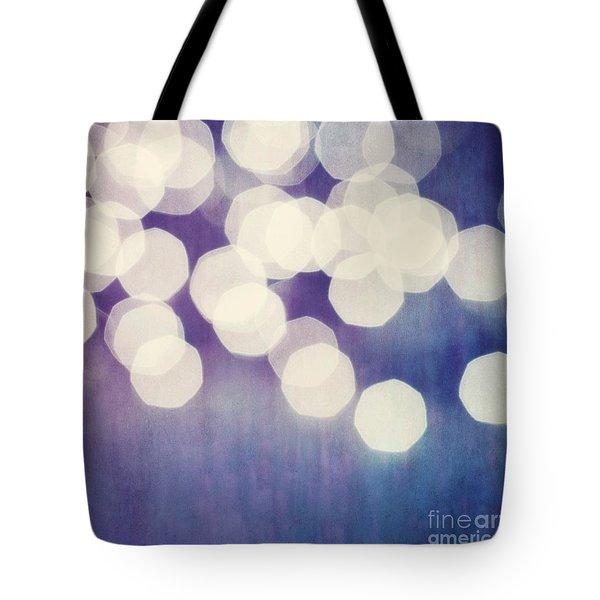 Circles Of Light Tote Bag by Priska Wettstein