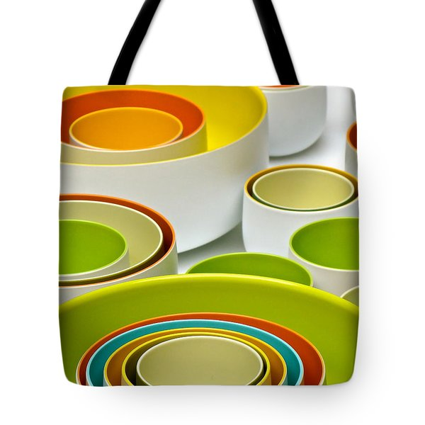 Tote Bag featuring the photograph Circles Squared by Ira Shander