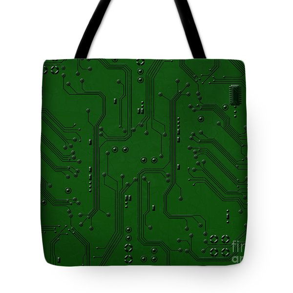 Circuit Board Tote Bag by Bedros Awak