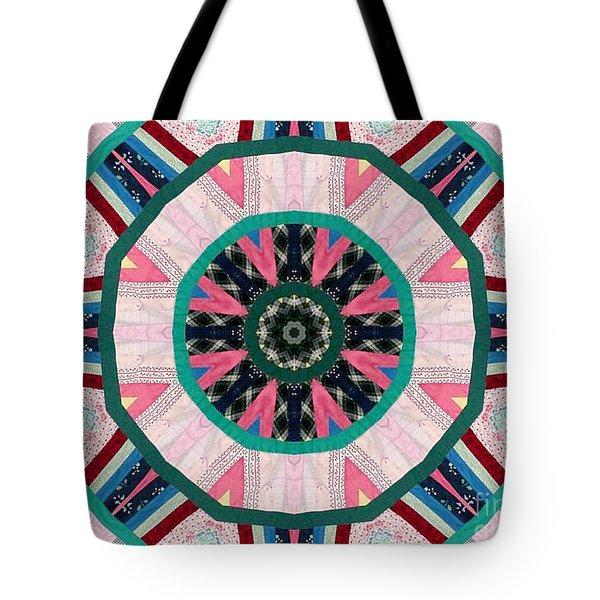 Circular Patchwork Art Tote Bag by Barbara Griffin
