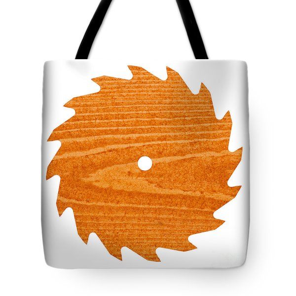 Circular Saw Blade With Pine Wood Texture Tote Bag by Stephan Pietzko