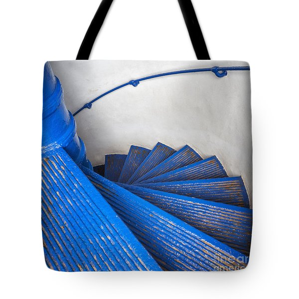 Tote Bag featuring the photograph Circular Staircase At Arecibo Lighthouse In Puerto Rico by Bryan Mullennix