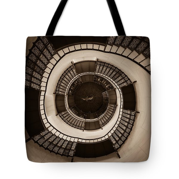 Circular Staircase In The Granitz Hunting Lodge Tote Bag by Andreas Levi