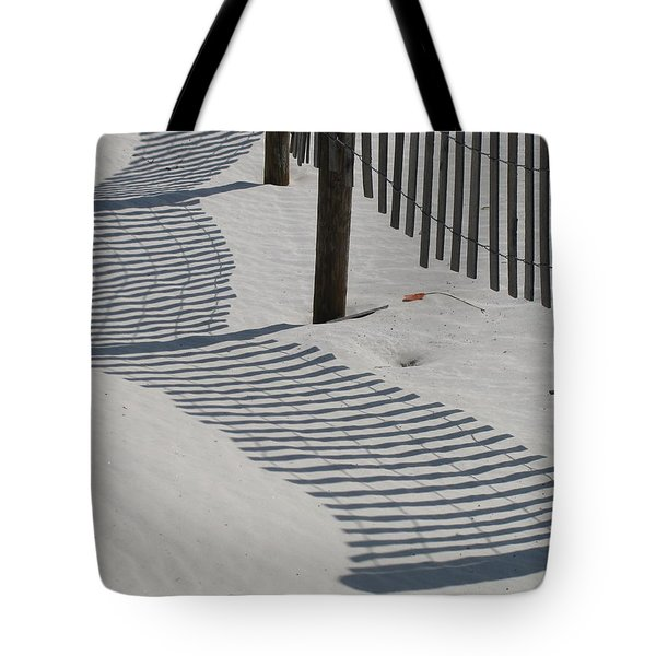 Circus Beach Fence Tote Bag