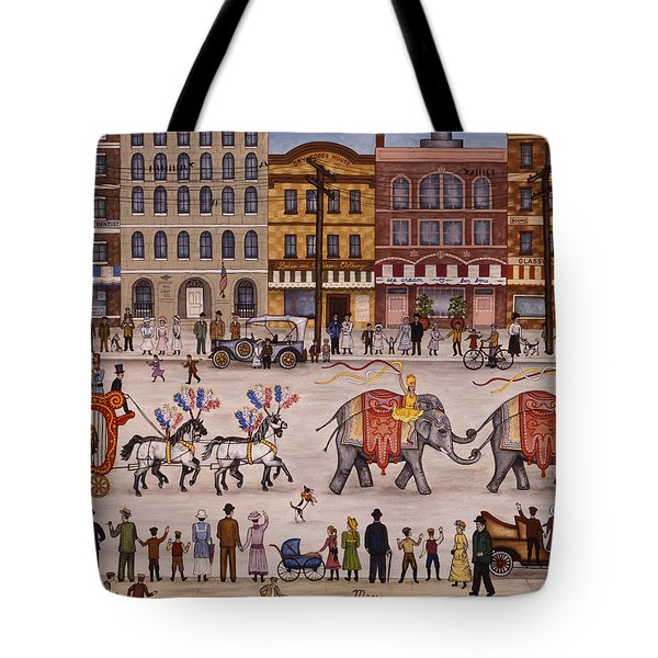 Circus Parade Tote Bag by Linda Mears