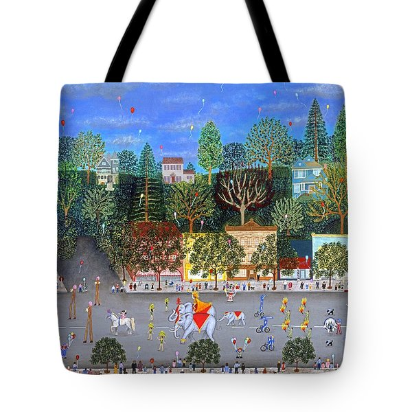 Circus Parade Two Tote Bag by Linda Mears
