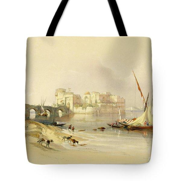 Citadel Of Sidon Tote Bag by David Roberts