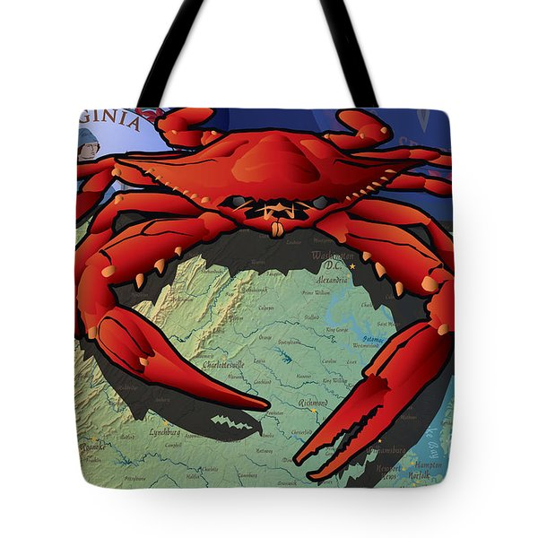 Citizen Crab Of Virginia Tote Bag