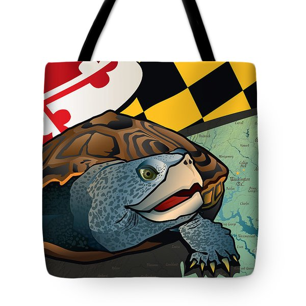 Citizen Terrapin Maryland's Turtle Tote Bag by Joe Barsin
