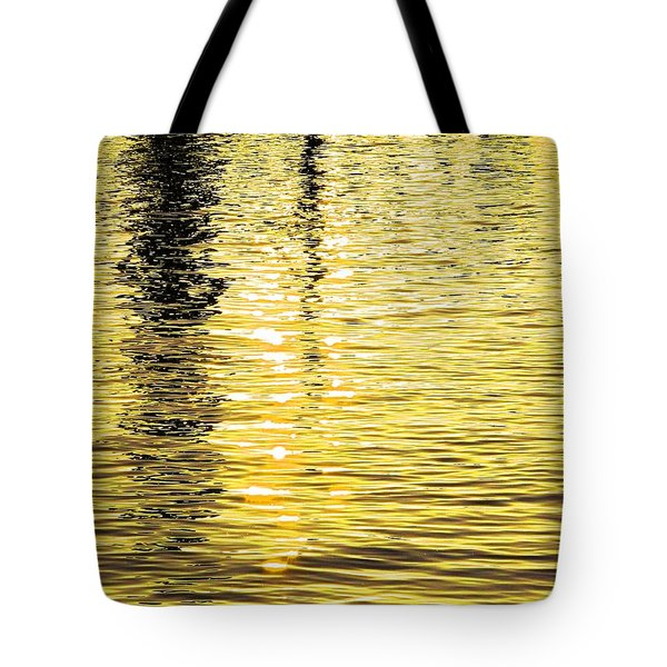 Citrine Ripples Tote Bag by Chris Anderson