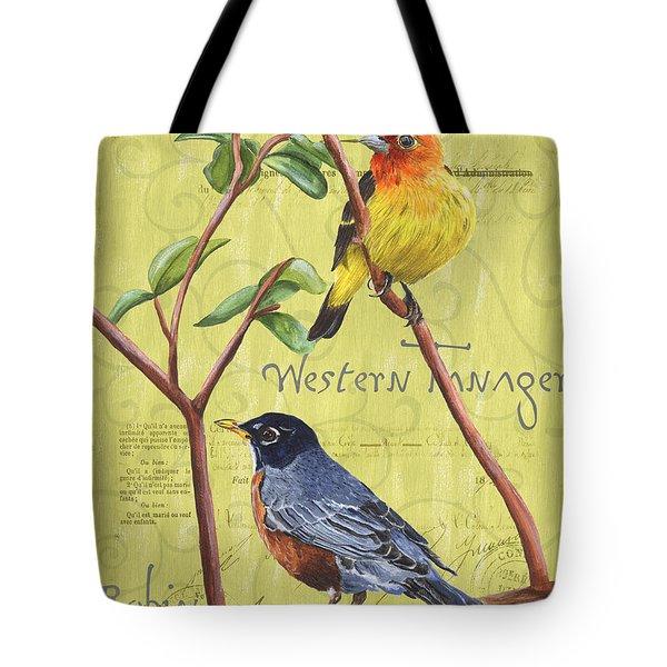 Citron Songbirds 2 Tote Bag