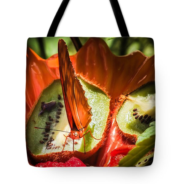 Citrus Butterfly Tote Bag by Karen Wiles