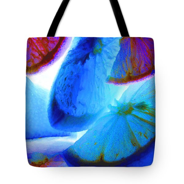 Tote Bag featuring the photograph Citrus by Cheryl Del Toro
