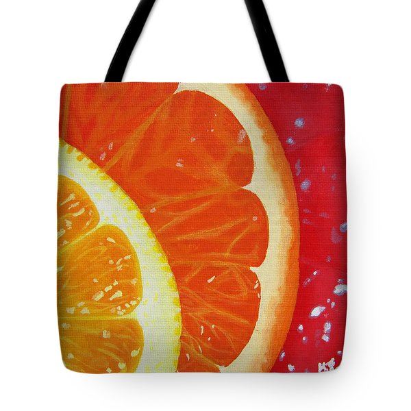 Citrus Hue Tote Bag by Kayleigh Semeniuk
