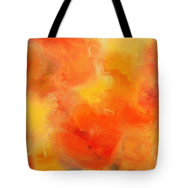Citrus Passion - Abstract - Digital Painting Tote Bag by Andee Design