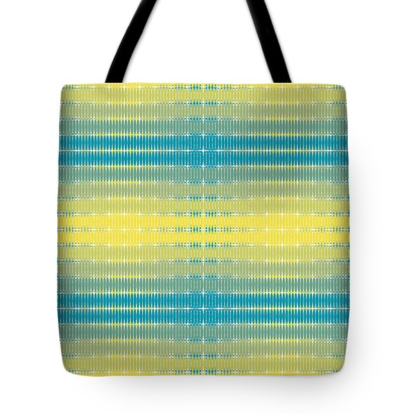 Tote Bag featuring the digital art Citrus Warp 3 by Kevin McLaughlin